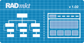 RAD MKT Information Architecture Services / Blueprint Grahpic
