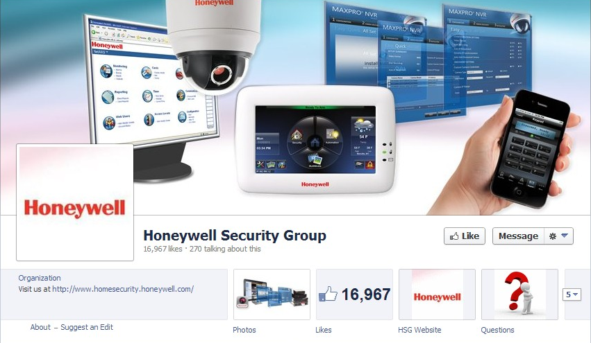 Honeywell-Security-Group-Facebook-Page