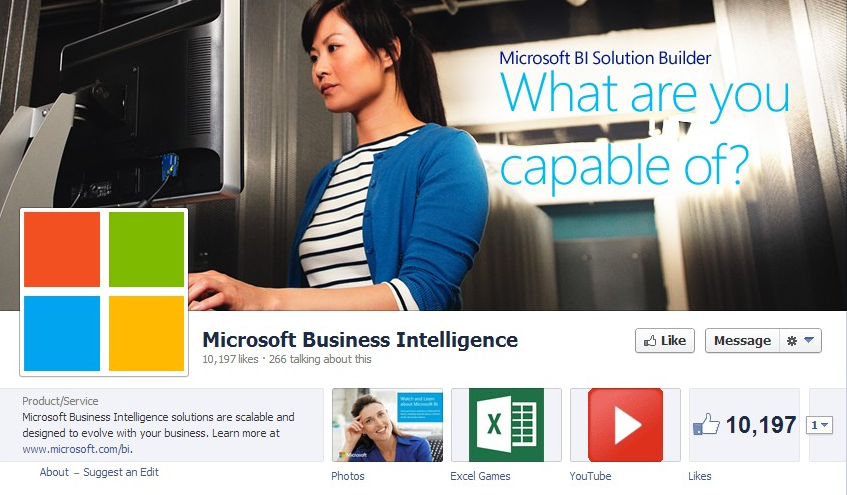 Microsoft-Business-Intelligence-Facebook